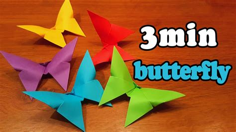 5 minute origami how to make an easy origami butterfly in 3 minutes 5