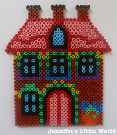 Hama Bead House Pegboard Cottage Perler Obsession