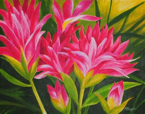 acrylic painting easy flower acrylic paintings of flowers my flower garden