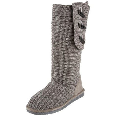 bearpaw grey knit boots bearpaw knit 658w s sweater boots free