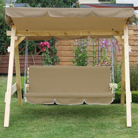 wooden garden patio porch swing bench solid furniture