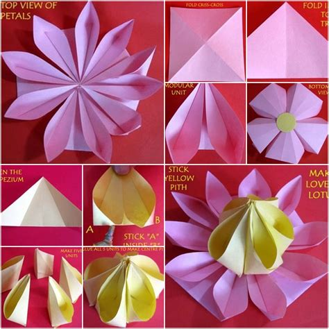 how to fold origami lotus how to make lovely paper origami lotus fab diy