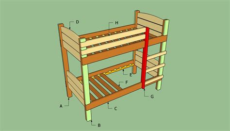 how to make bunk beds pdf make bunk bed plans free