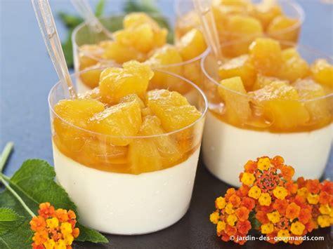 panna cotta 224 l ananas jardin des gourmandsjardin des gourmands