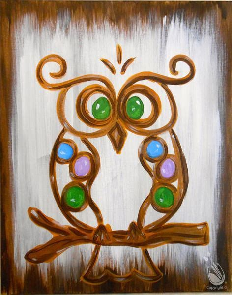 paint with a twist olive branch ms jeweled owl wednesday january 11 2017 painting with