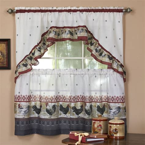 chicken kitchen curtains 20 useful ideas of rooster kitchen curtains as part of
