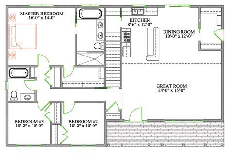 floor plans open concept bungalow open concept floor plans android iphone house plans 80662