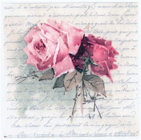 decoupage roses decoupage napkins of vintage roses and poem