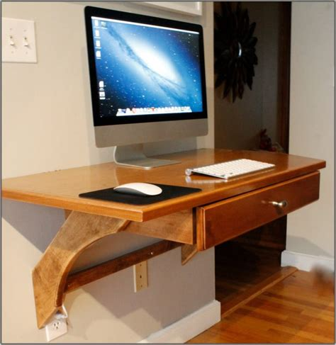computer desk on wall furniture narrow wooden computer desk with hutch cabinet