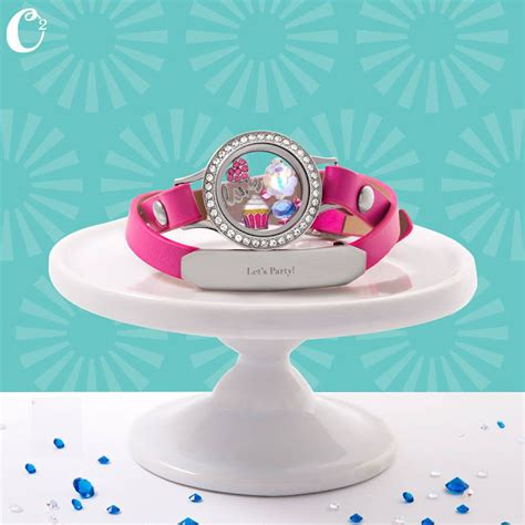 origami owl birthday locket origami owl living locket on pink leather wrap bracelet