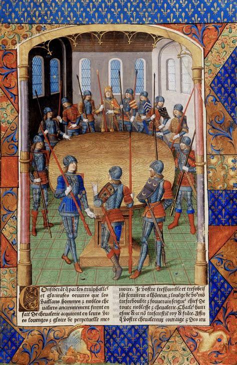 le roi arthur et les chevaliers de la table ronde enluminure du ma 238 tre jacques de besan 231 on
