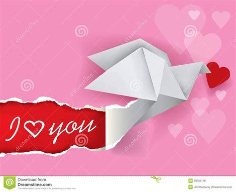 message origami message de colombe d origami de l amour images libres de