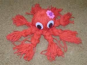 easy yarn crafts for make a yarn octopus craft googly and yarns