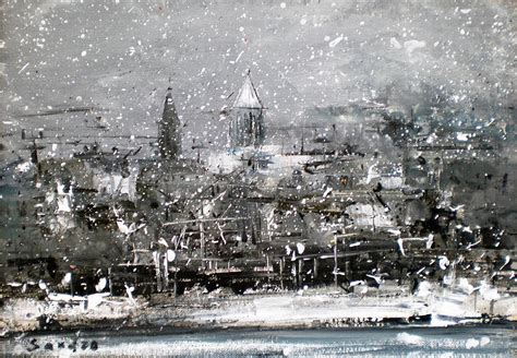 paint nite cities in city painting by sandro akhvlediani