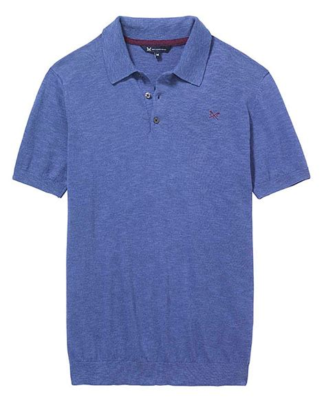 knit polo s winchester knit polo in cornflower from crew