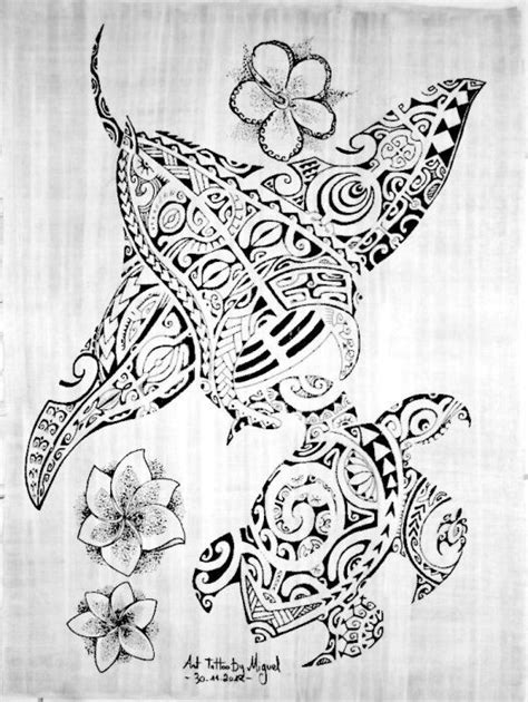 sea animals polynesian tattoos tattoos pinterest