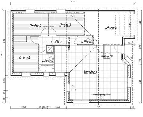 plan de maison contemporaine de plain pied plans maisons