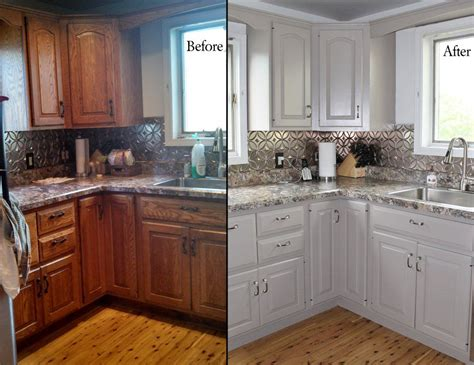 kitchen cabinet painting before and after painting oak kitchen cabinets before and after with white