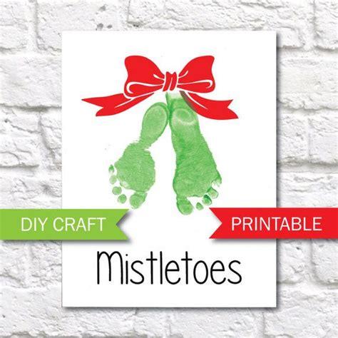 mistletoe craft for 25 unique mistletoe footprint ideas on