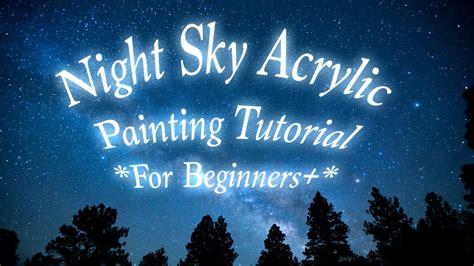 paint nite tutorial sky painting tutorial for beginners