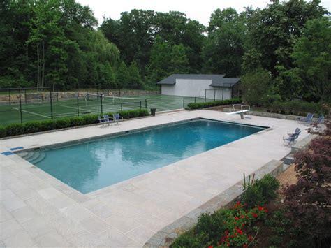 pool and patio designs limestone swimming pool patio nj traditional patio