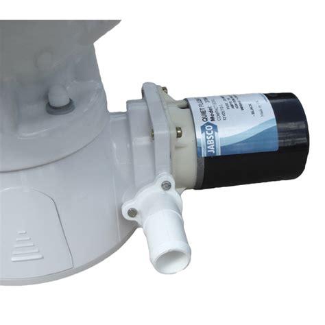 Jabsco Quiet Flush Toilet 37045 by Jabsco Compact Bowl Quiet Flush Electric Toilet Sheridan