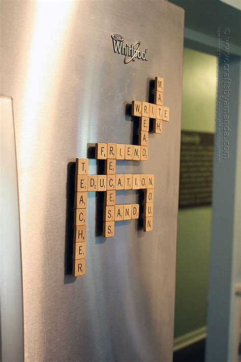 things to do with scrabble tiles diy refrigerator scrabble crafts by amanda