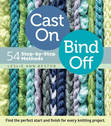 bind in knitting cast on bind for knitting patterns