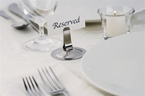 fancy place setting table with quot reserved quot sign business unplugged carol roth