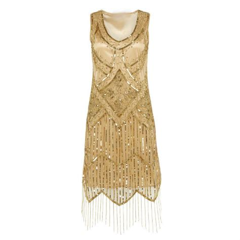 beaded gold dress 1920 s gatsby flapper gold beaded dress size 8 for hire