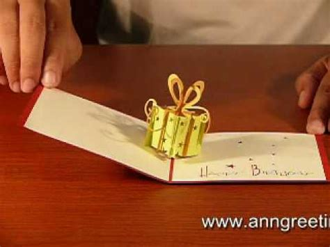 how to make 3d pop up greeting cards gift box 3d pop up greeting card