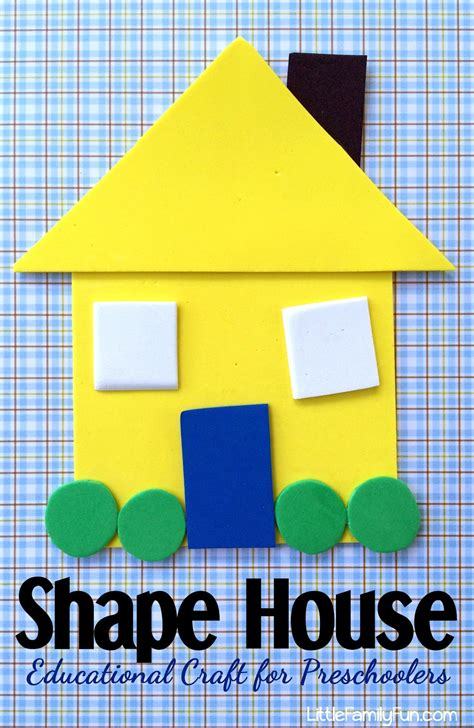 for preschoolers to make family shape house educational craft