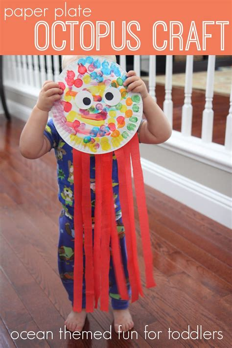 octopus paper plate craft toddler approved week playful learning activities