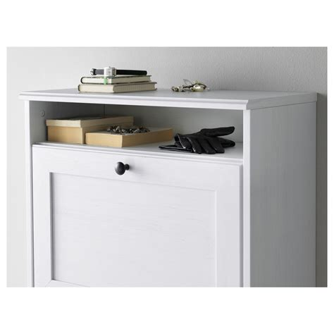 brusali cabinet brusali shoe cabinet with 3 compartments white 61x130 cm