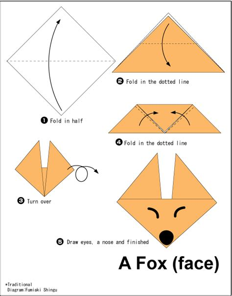 easy origami origami fox easy origami for