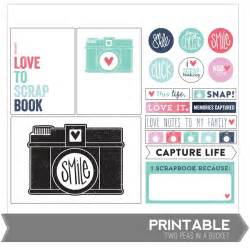 one velvet morning project life freebies printables
