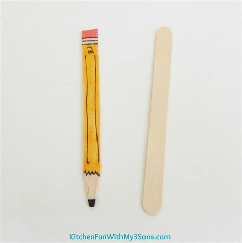 popsicle sticks back to school popsicle stick pencil craft for teachers