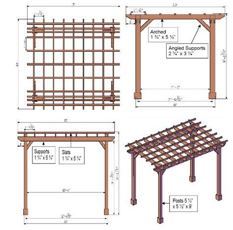 pergola blueprints free pergola plans pergoladiy
