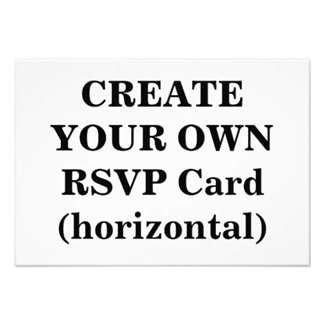 make ur own cards create your own rsvp card horizontal 3 5 quot x 5