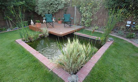 wokingham pond and decking dream gardens