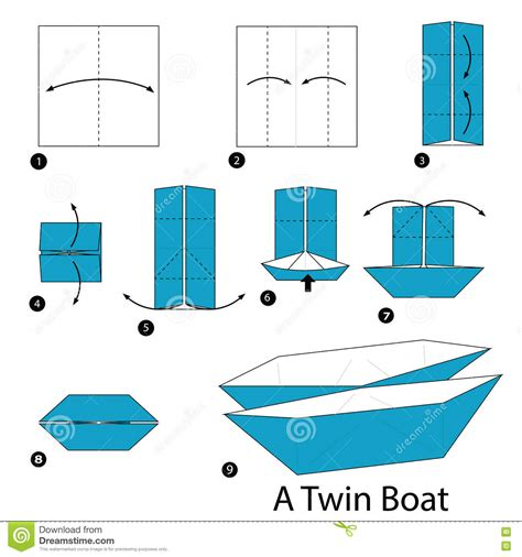 how to make a origami boat step by step step by step how to make origami a boat
