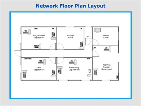free floor plan layout template conceptdraw sles computer and networks computer