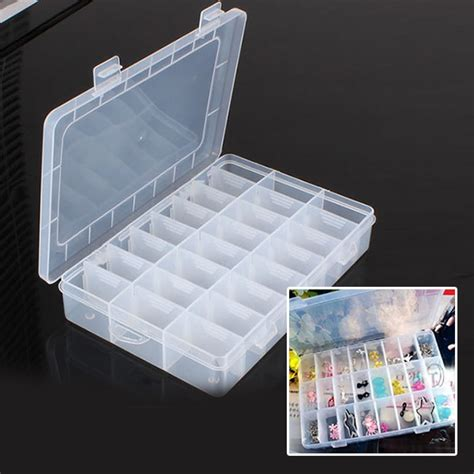 jewelry storage containers new practical adjustable plastic 24 compartment storage
