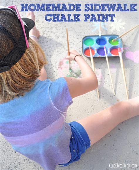 diy sidewalk chalk paint recipe how to make sidewalk chalk paint club chica circle