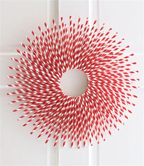 paper straw craft ideas straw burst wreath