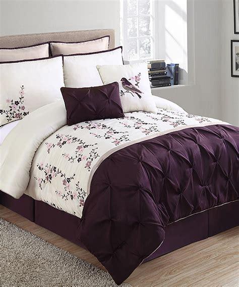 plum king comforter set plum ivory lydia comforter set modern comforters and