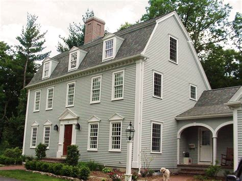 Gambrel Roof Homes the saltbox colonial exterior trim and siding the