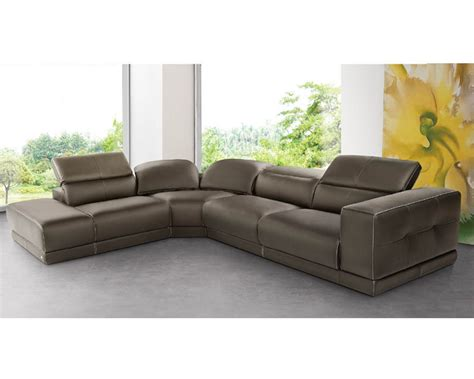 italian sectional sofas italian sectional sofa set in brown leather 33ls141