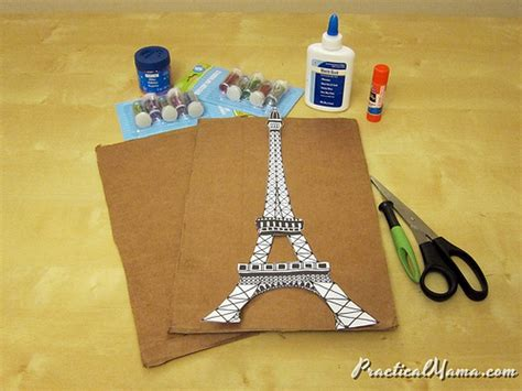 eiffel tower crafts for arts crafts glittery eiffel tower practical