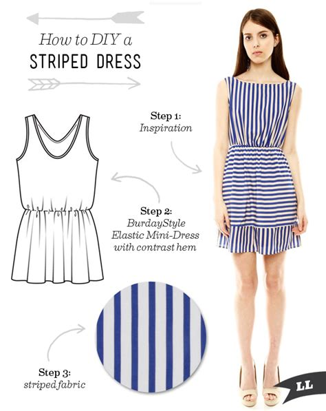 how to sew on a dress how to diy a striped cut out back summer dress sew diy